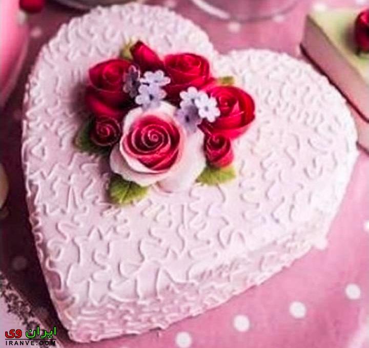 عکس کیک ولنتاین دونفره عاشقانه