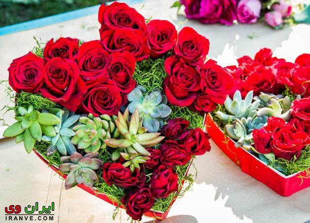 عکس دسته گل ولنتاین برای همسر