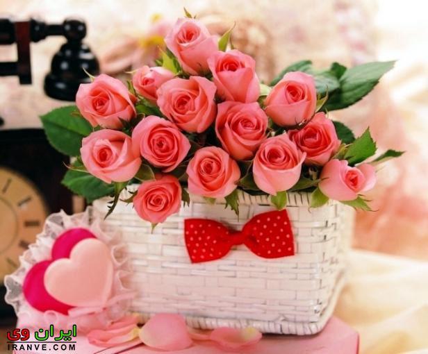 عکس دسته گل ولنتاین برای دوست