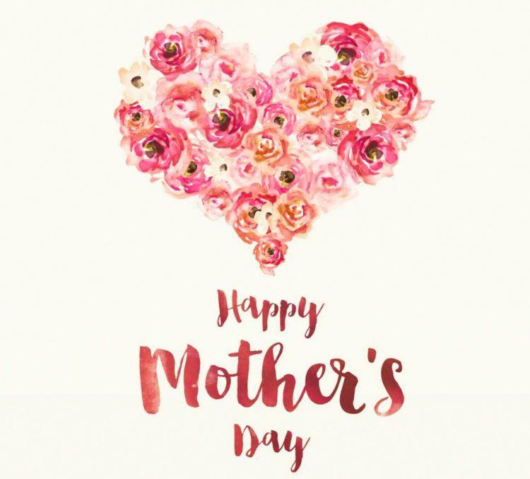 عکس پروفایل روز مادر قلب دسته گل به انگلیسی روزت مبارک