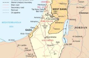 نقشه فعلی اسرائیل و فلسطین