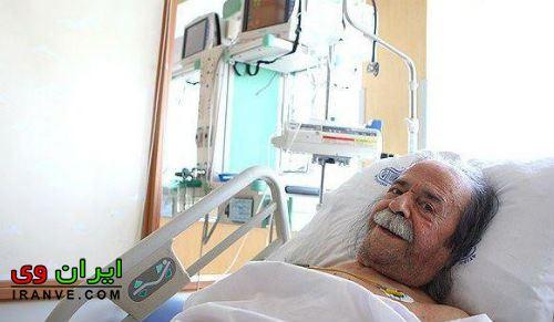 درگذشت محمد علی کشاورز عکس روی تخت بیمارستان