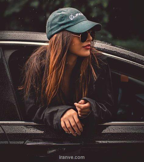 پروفایل دختری که از ماشین اومده بیرون