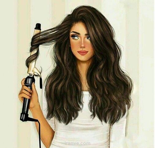 عکس دخترونه درست کردن مو برا پروفایل