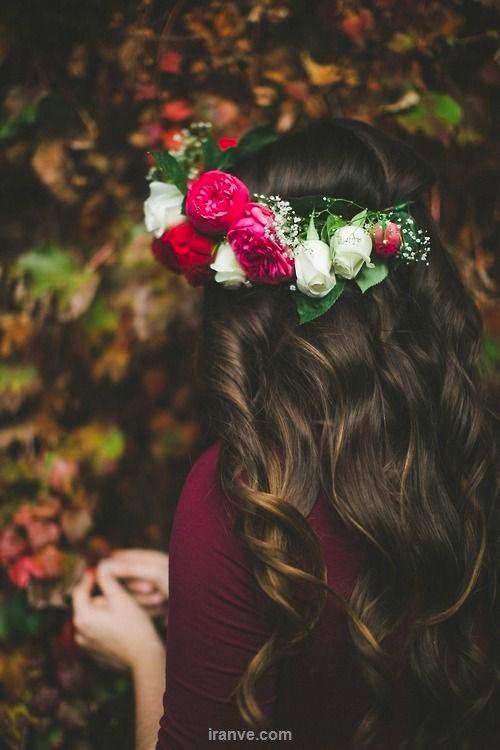 عکس پروفایل دخترونه سبد گل روی سر