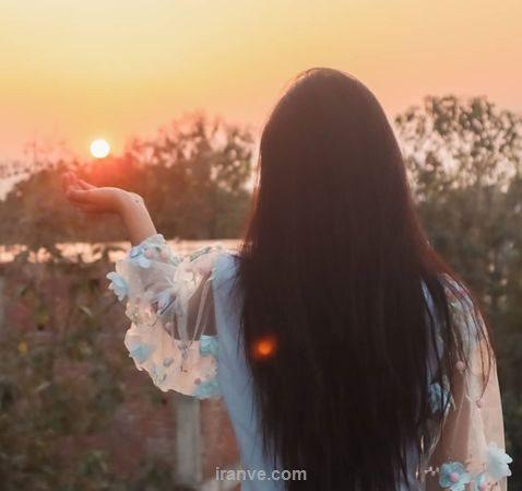 پروفایل دخترونه غمگین گرفتن غروب خورشید