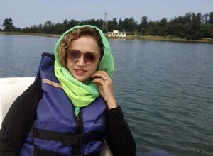 عکس متفاوت شبنم قلی خانی در حال قایق سواری در رامسر
