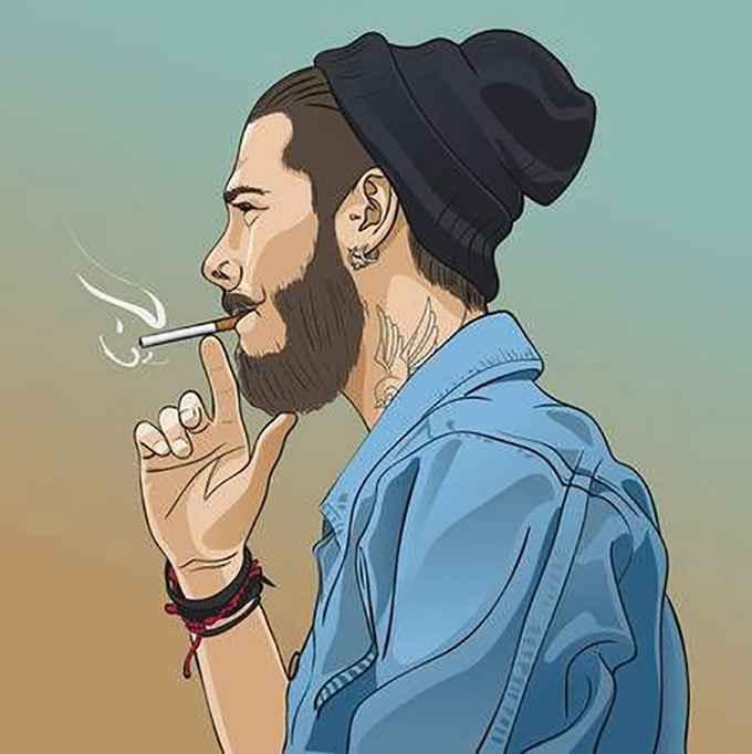 عکس جوکر در حال سیگار کشیدن , عکس سیگار طالقانی , عکس پسرانه غمگین با سیگار