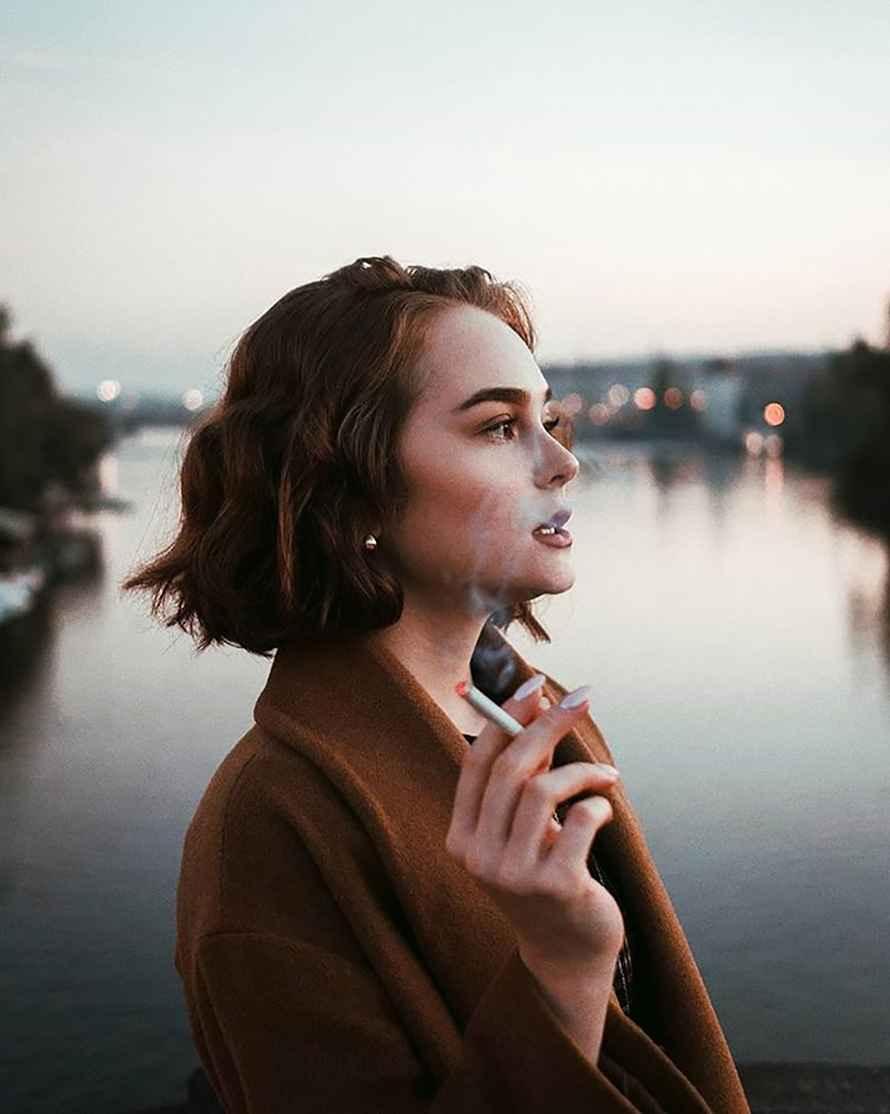 عکس سیگار وینستون , عکس سیگار نوشته دار , عکس غمگین و سیگار